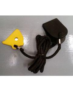Chave de segurança para esteira | snap-fit triangular