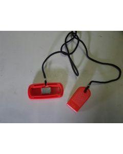 Chave de segurança para esteira | formato quadrado e magnético
